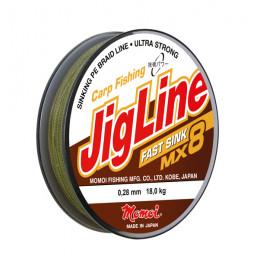 Плетеный шнур Jigline Fast Sink 100 м