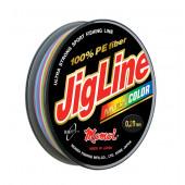 Плетеный шнур Jigline Multicolor 100, 150 м