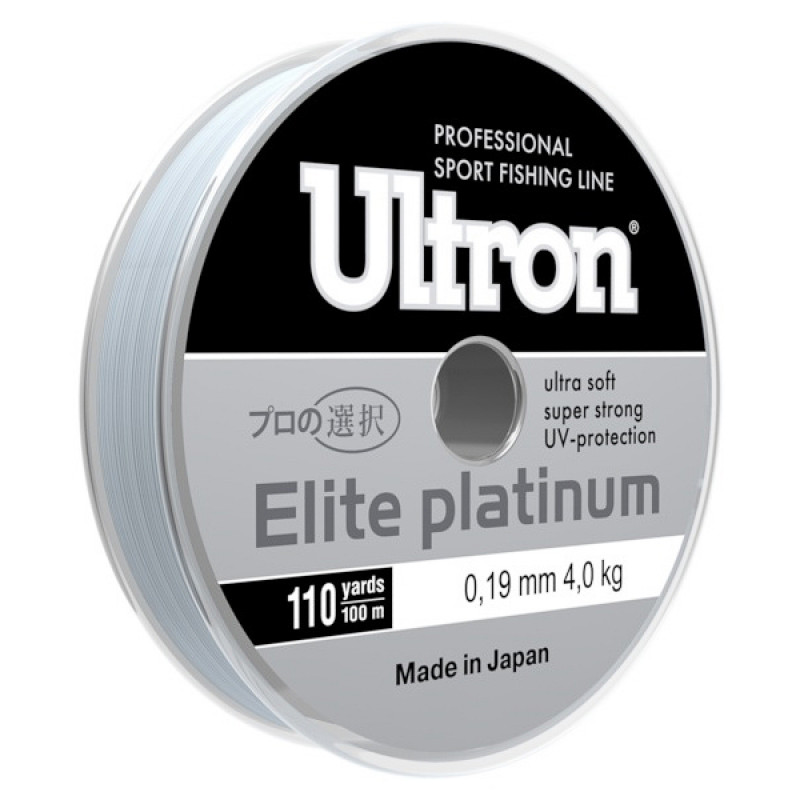 Леска Ultron Elite Platinum, 100 м