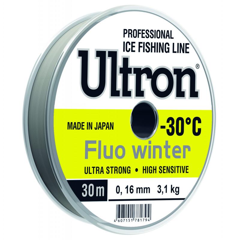 Зимняя леска Ultron Fluo Winter 30 и 50 м