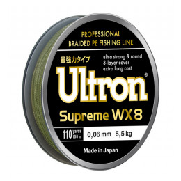 Плетеный шнур Ultron WX8 Supreme, 100, 137, 300 м