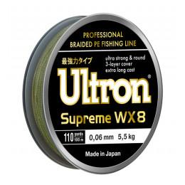 Плетеный шнур Ultron WX8 Supreme, 100, 137, 300 м