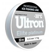 Зимняя леска Ultron Elite Platinum, 30 м