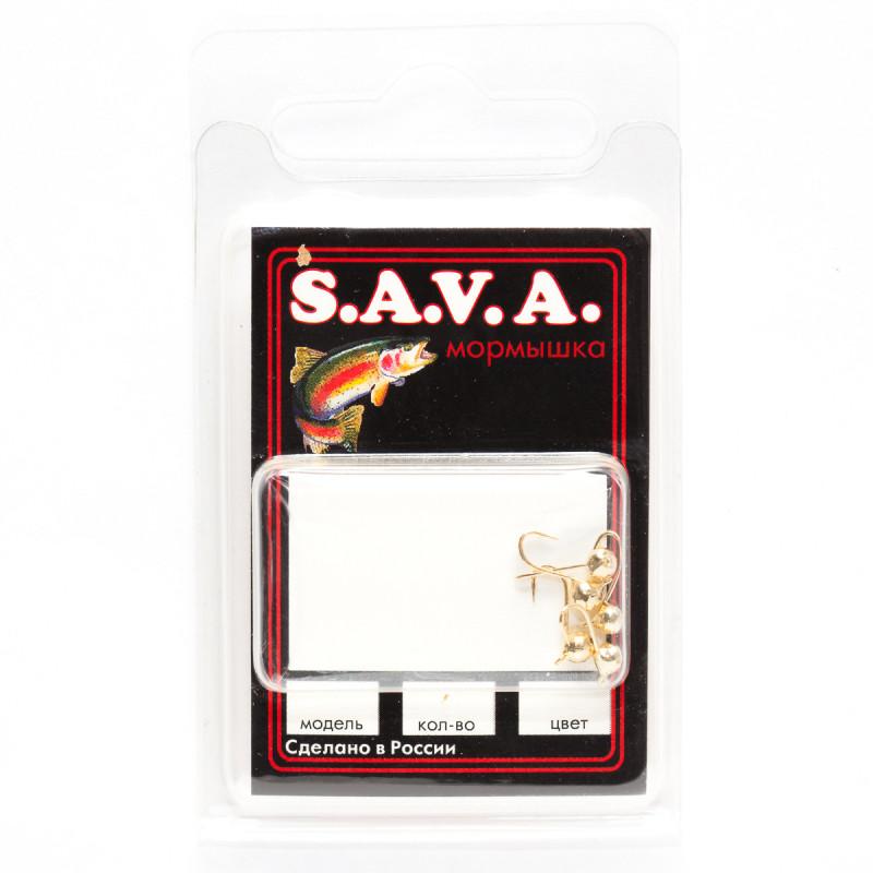 Мормышка S.A.V.A Шар с ушком фигурный, золото