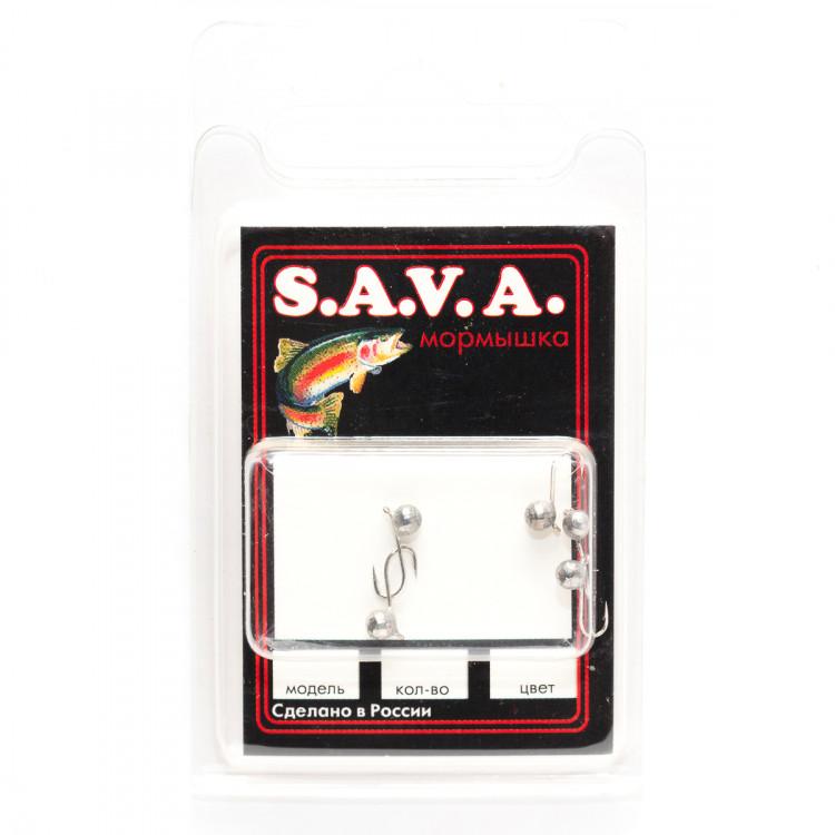 Мормышка S.A.V.A Шар с ушком фигурный, никель