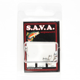 Мормышка S.A.V.A Капля с отверстием, никель