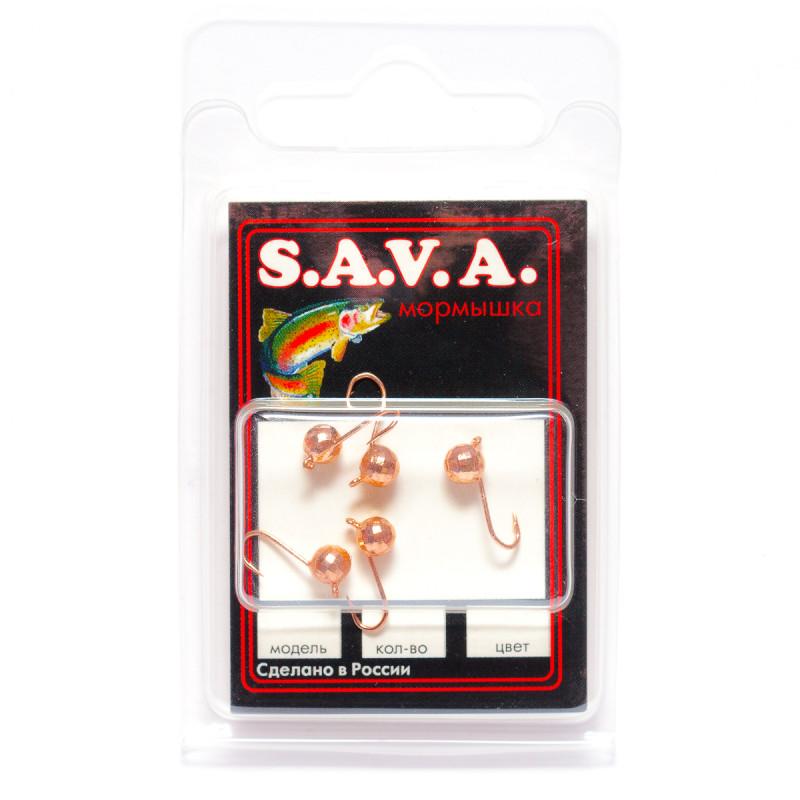 Мормышка S.A.V.A Шар с ушком фигурный, медь