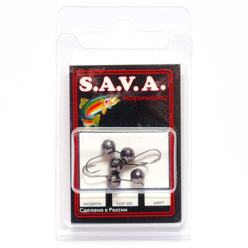 Мормышка S.A.V.A Шар с ушком фигурный, чёрн. никель