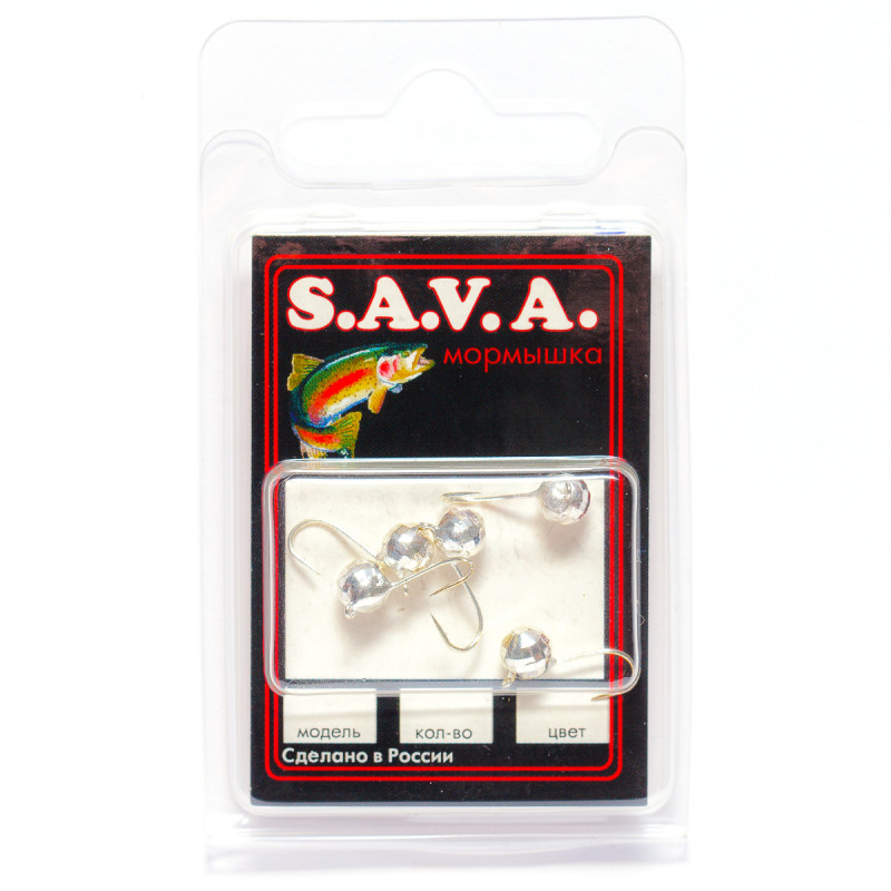 Мормышка S.A.V.A Шар с ушком фигурный, серебро