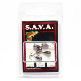 Мормышка S.A.V.A Капля с ушком, чёрн. никель