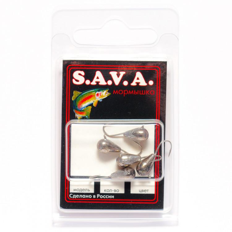 Мормышка S.A.V.A Капля с ушком, никель