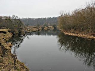Пример подходящих для рыбалки закоряженных мест